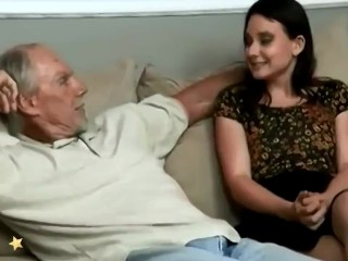 Old Grandfather Fucked A Queasy Stripling Woman